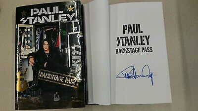 Signed Paul Stanley Backstage Pass Book KISS 1/1 HC DJ Guitarist Rock K.I.S.S.