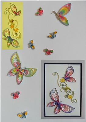 Quilling Kit - Butterflies for Cards & Wall Art by Past Times Quilling