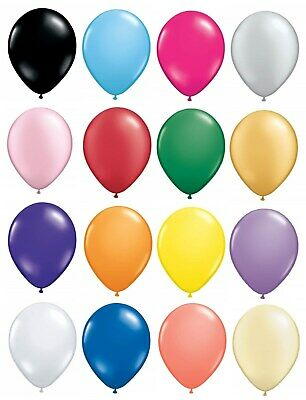 "50 x 12.5cm (5"") Latex Balloons - Party Decorations - Small Round Best Quality"