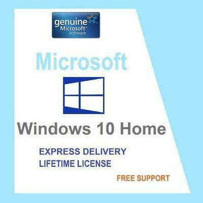 Microsoft Windows 10 Home 1PC 32/64 bit Genuine Activation Key