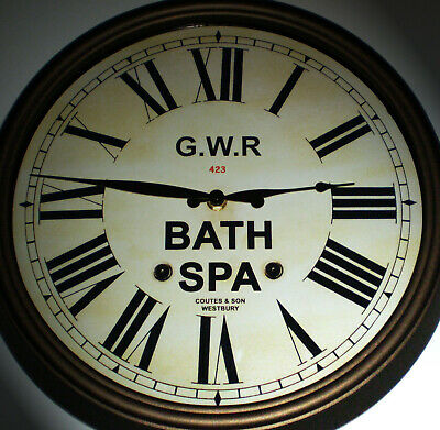 Great Western Railway GWR Victorian Style Clock, Bath Spa Station