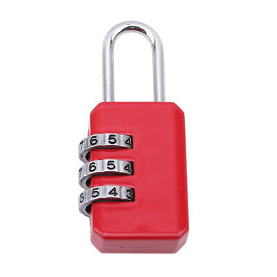 Resettable 3 Dial Digit Combination Suitcase Luggage Password Code Lock LD