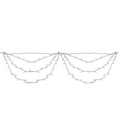 Brite Star 4 X 6 Warm White Twinkling Led Net Outdoor String