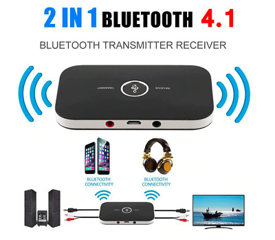2in1 Trasmettitore ricevitore wireless Bluetooth USB Aux Audio TV Music 3.5mm B6