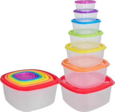 All For You Plastic Food Storage Container Set BPA free assorted color lid