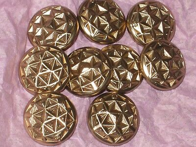 Chanel 10 Matte Gold Metal Cc Logo Front Buttons  14 Mm/  New Lot 10
