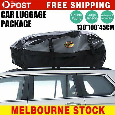 130cm Car Roof Bag Top Rack Travel Cargo Carrier Luggage Storage Bag Rooftop
