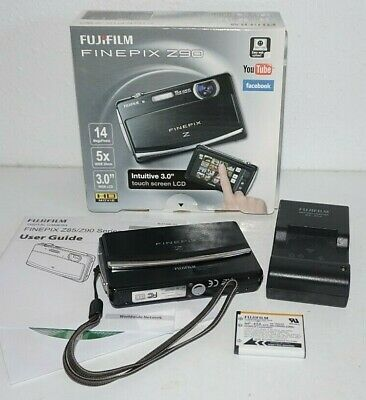 Fujifilm Finepix Z90 Black Digital Camera 14mp 5x 28mm Zoom Touch Screen