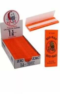 Zig Zag Orange🔥🔥Cigarette Rolling Papers 24 Packs(1 BOX)32 Papers Pack1 1/4