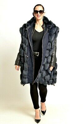 abd9a4a9ce010 Colored Blue Fox - Fur Coat   Jacket   Vest - Reversible Class Of Red Silver