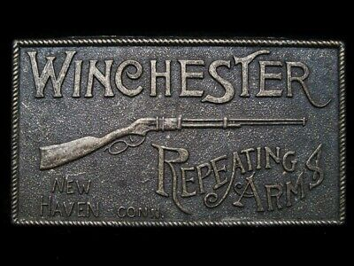 LG17119 NICE VINTAGE 1970s ***WINCHESTER REPEATING ARMS*** GUN BELT BUCKLE