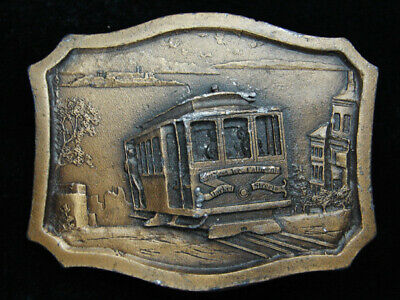 Qi15105 Vintage 1977 **San Francisco Cable Car** Belt Buckle