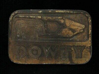 NG19133 VINTAGE 1970s **DOWTY** COAL MINING BRASSTONE BELT BUCKLE