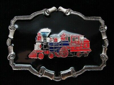 Ng15127 *Nos* Vintage 1980 **Steam Engine Train** Railroad Pewter Belt Buckle