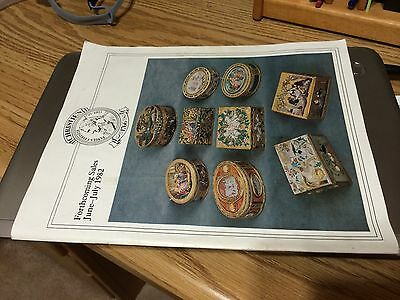 Christies 1982 Forthcoming Sales World Wide Art Antiques Furniture Jewels