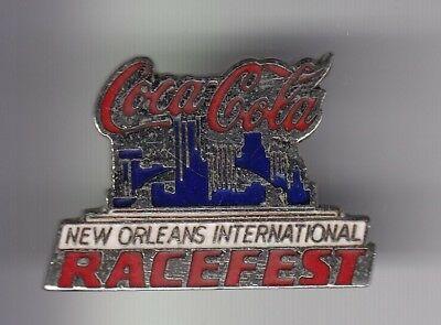 Rare Pins Pin's .. Coca Cola Coke Amerique Usa Course Racefest New Orleans ~18