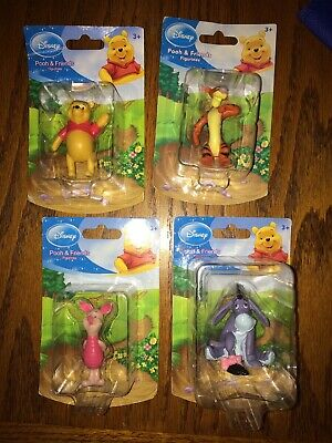 LOT of 4 - DISNEY Winnie the Pooh Figures Tigger And Piglet Cake toppers Eeyore
