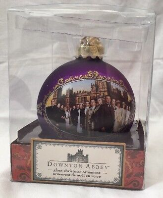 New Downton Abbey Purple Gold Glass Ornament Bauble