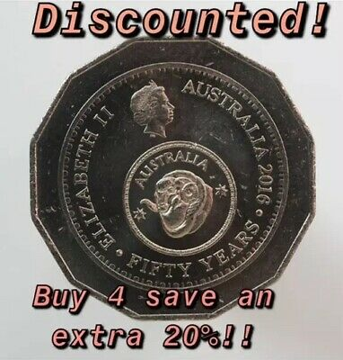 RARE 2016 50cent Australian Coin Changeover Currency - Low Mintage RAM