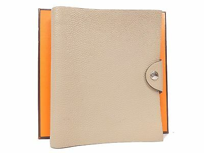 Auth Hermes Veau Epson Ulysse PM Planner Diary Cover Notebook Holder T601