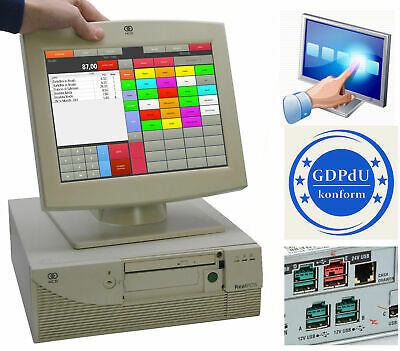 Pos Cash Register System Ncr Realpos with Screen Gastro Checkout Pizzeria ##Ncr3