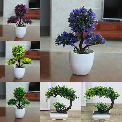 18 Types-Artificial Plant Bonsai Flower Wedding Home Courtyard Office Decor