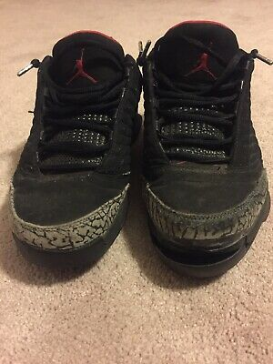 6d5433b52db48e Nike Air Jordan XIX 19 LOW BLACK CEMENT SIZE 8.5 100% AUTHENTIC CIRCA 2004
