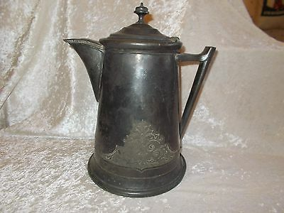 Antique Jas. Stimpson Silverplated Water/Coffee Pitcher