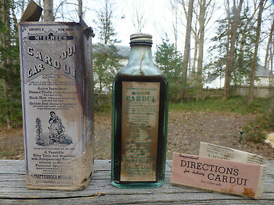 Antique McElree's Cardui Tonic by Chattanooga Medicine Co.  Bottle & Box