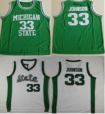 060afa1f Magic Johnson Michigan State College #33 Basketball Stitched Jersey S-2XL  NEW