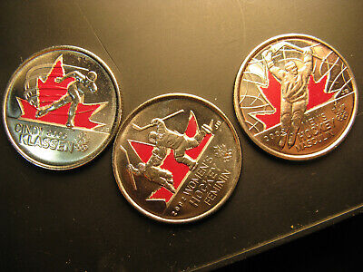 Canada Vancouver 2010 Coloured  25 Cent  Coins Coloured Set.