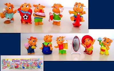 Kinder Sorpresa 2000 Germania - Set Completo Pinky Piggys + 1 Cartina