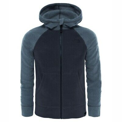 The North Face Glacier Full Zip Hoodie Jr (Recycled) Tnf Medium Grey/Graphite...