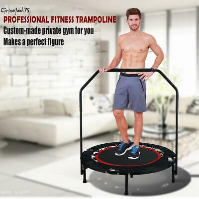 "40"" Trampolin mit Haltestange Jumper Sport verstellbaren Fitness Training 135KG"