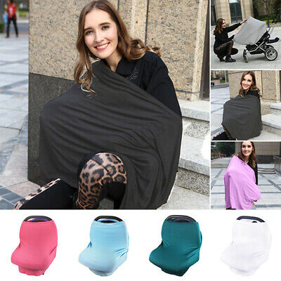 1Pc Cover Breastfeeding Nursing Top Canopy Feeding Scarf Blanket More Colors