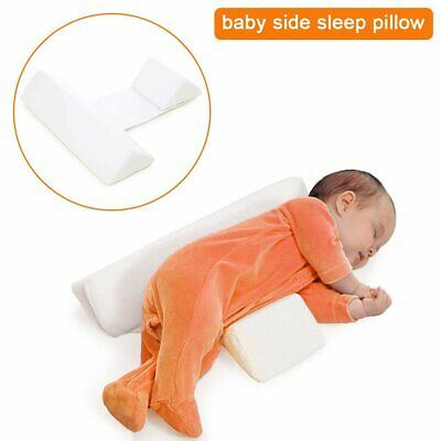 Newborn Baby Sleep Pillow Wedge Shape Infant Anti-Roll Flat Head Cushion Support