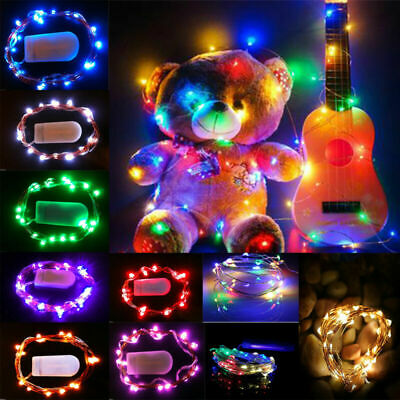 1M 10 LED Battery Operated Micro Copper Silver Wire LED Fairy Lights Xmas Party