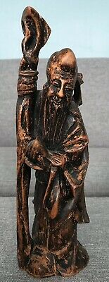 Hand-carved Asian Statue, Signed, Antique/Vintage, Collectible