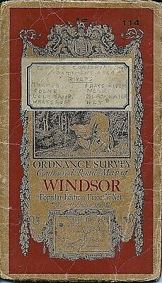 Ordnance Survey Map No 114 WINDSOR - 1920 - cloth