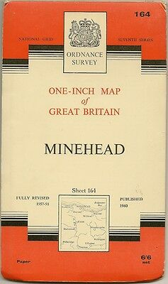 Ordnance Survey Map 164  MINEHEAD- 1960