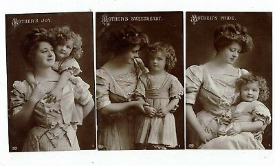 Post Cards Real Photo Titled Mother`s Pride, Sweetheart And Joy.