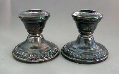 Vintage Small La Pierre #169 Sterling Silver Candle Holders;G782