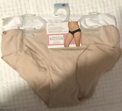 Nude /& White Great Expectations   2-Pack Maternity Hipsters size  2X NWT