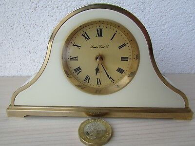 """LONDON CLOCK CO Napoleon Mantle Clock SMALL SIZE 3"""" HEIGHT SPARES OR REPAIR ONLY"""