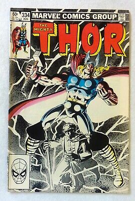 The Mighty Thor 334 Marvel Comics VFN+ Condition Bronze Age 1983