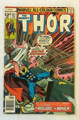 The Mighty Thor 267 Marvel Comics VFN Condition Bronze Age 1978