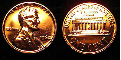 1960 GEM BU PROOF Lincoln Memorial BRILLIANT UNCIRCULATED PENNY US COIN PF