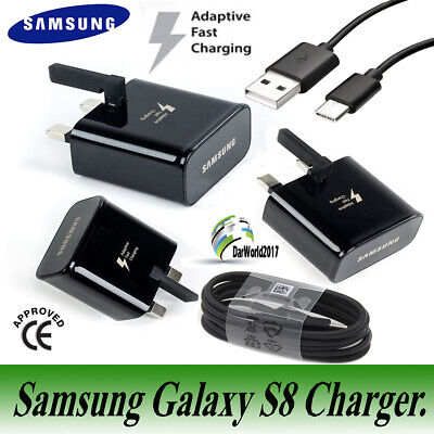 Samsung Galaxy S8 PLUS S9 S9+ Adaptive Fast 2A Mains Charger + Type C USB Cable