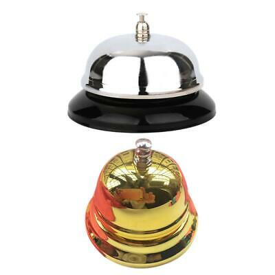 1Pcs Restaurant Hotel Kitchen Service Steel Bell Ring Reception Desk Call Ringer