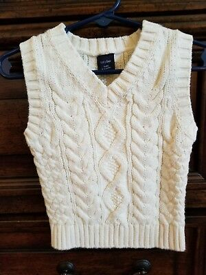 BABY GAP Cable Knit SWEATER VEST 6-12 M Month Ivory